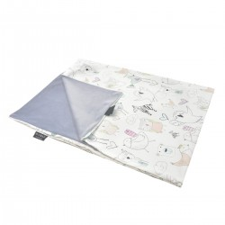 Kocyk Letni Grey Tender Friends 75 x 100cm - Velvet