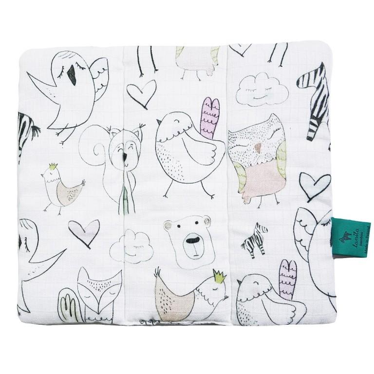 Muślinowa poduszka dla Niemowlaka Tender Friends 28 x 24cm