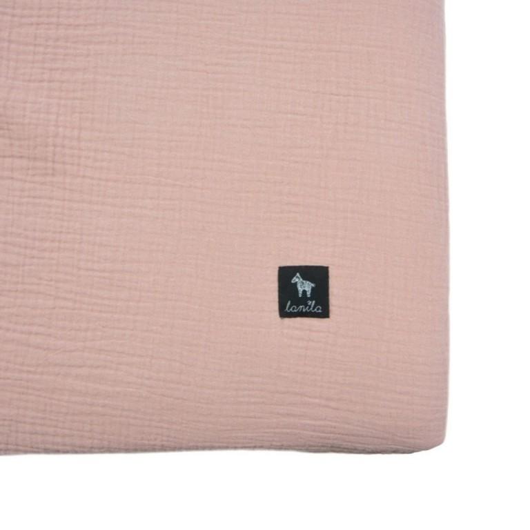 Prześcieradło Cotton Muślin Sepia Rose 60x120cm