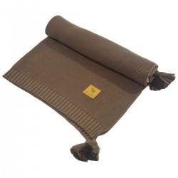 Kocyk dzianinowy Chocolate Simple 75x100