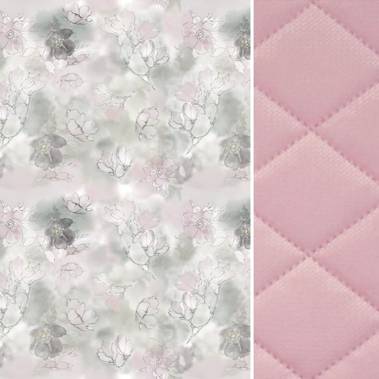 Ochraniacz do łóżeczka 60x120cm - Velvet Sepia Rose Flower Jam