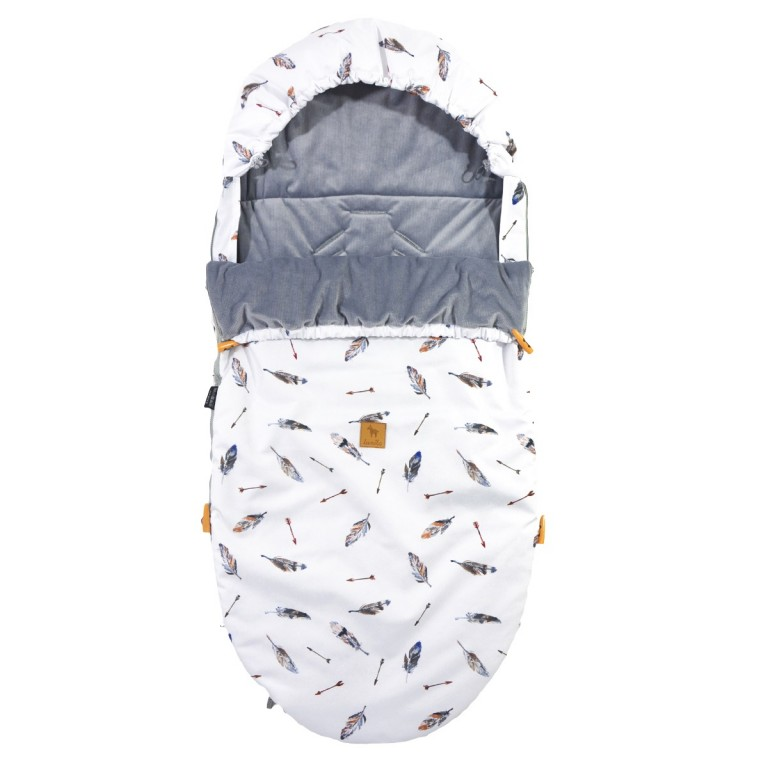 Spring Stroller Bag Grey Pure Velvet L/XL (1-3 years)