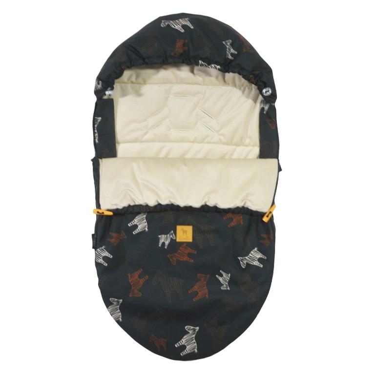 Spring Stroller Bag S/M (0-1 year) Latte Follow the Zebra Velvet