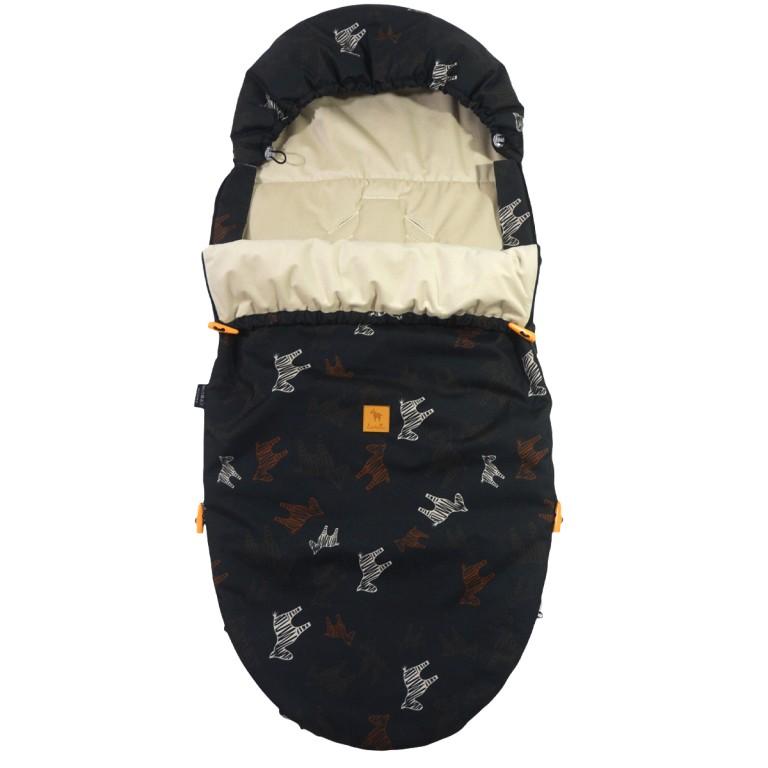 Spring Stroller Bag Latte Follow the Zebra Velvet L/XL (1-3 years)