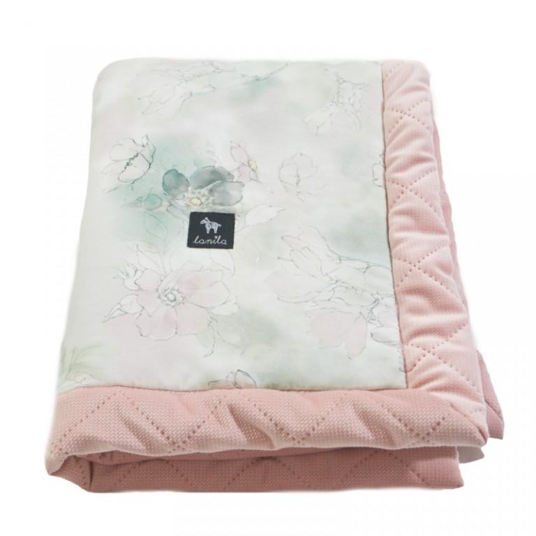 Zestaw Kocyk Velvet 60x70cm + Poduszka Miś Sepia Rose Flower Jam