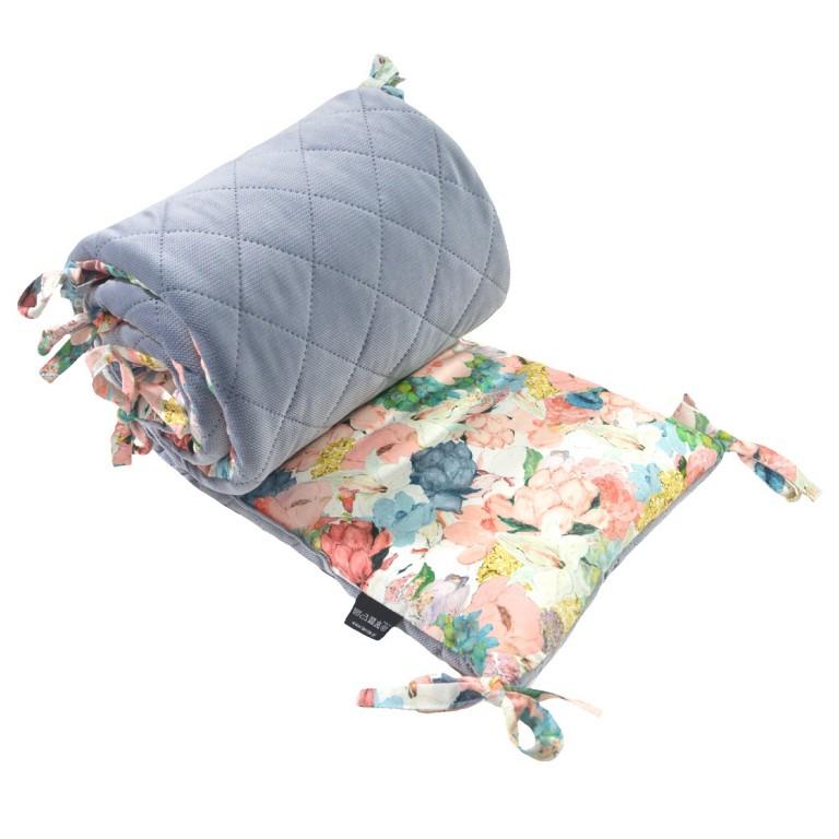 Ochraniacz do łóżeczka 60x120cm - Velvet Grey Lucy Bloom