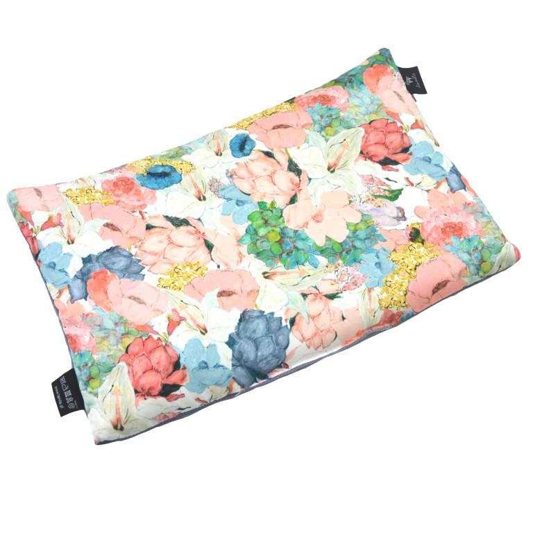 Poduszka Velvet 40x60 Grey Lucy Bloom
