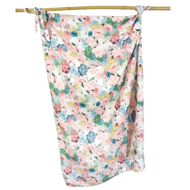 Otulacz Bambusowy 100% Lucy Bloom 100x120cm