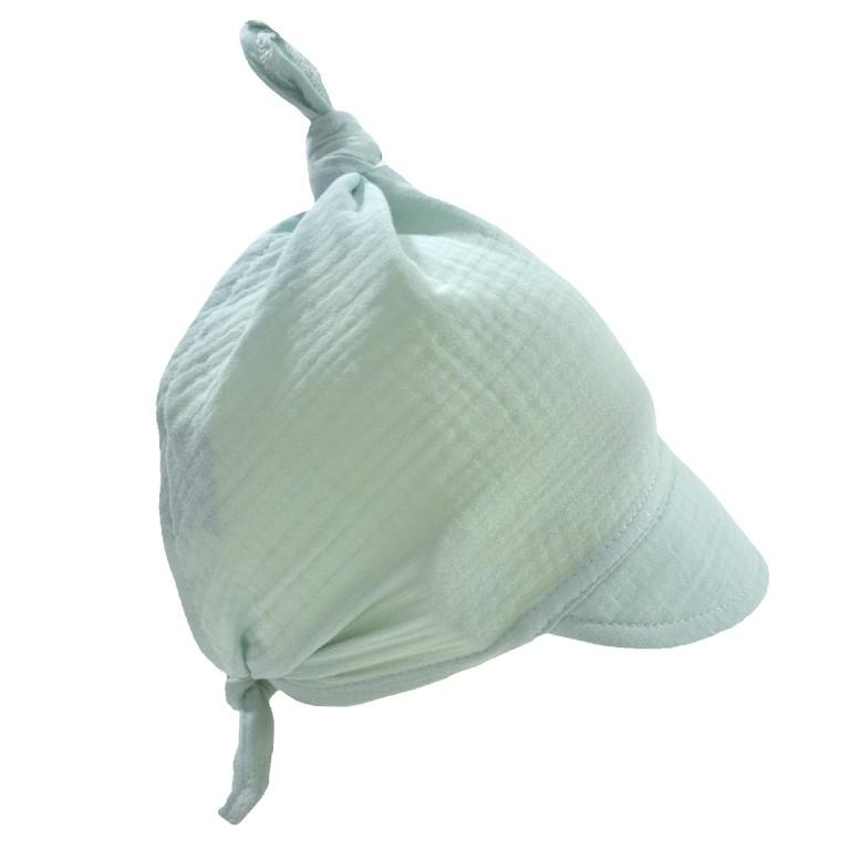 Muślinowa Chusta z daszkiem Mint