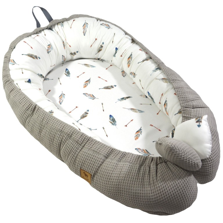 Baby Nest Taupe Grey Pure - Wafel