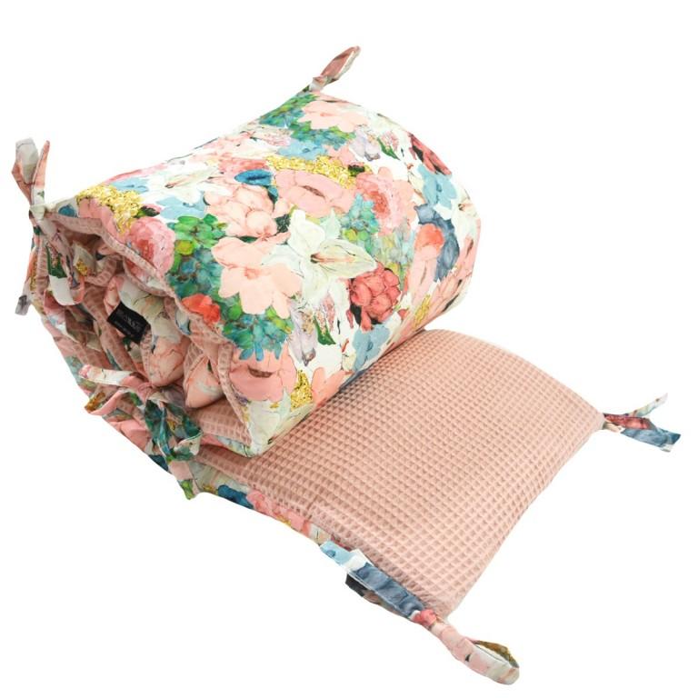 Ochraniacz do łóżeczka 60x120cm - Wafel Grapefruit Rose Lucy Bloom