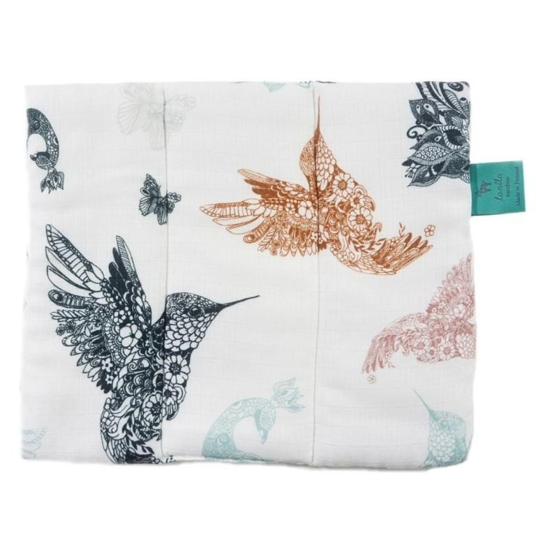 Muślinowa poduszka dla Niemowlaka Mandala Birds 28 x 24cm