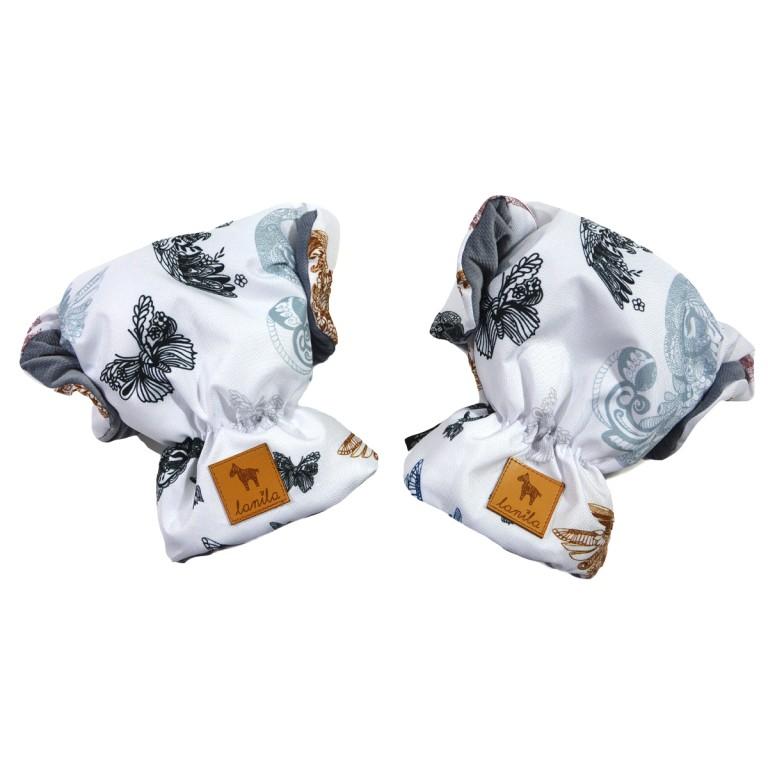 Wodoodporne Rękawice Grey Mandala Birds Velvet