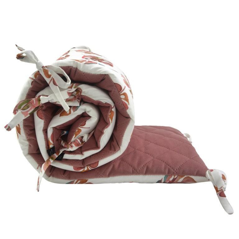 Ochraniacz do łóżeczka 60x120cm - Velvet Paloma Monstera