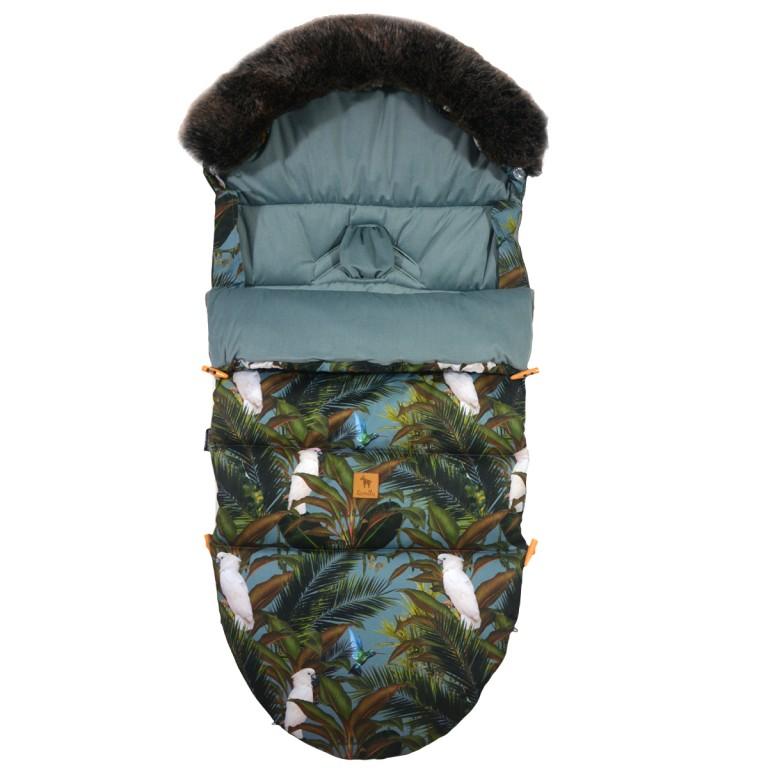Śpiworek Zimowy z futrem Khaki Tropical L/XL (1-3 lat)