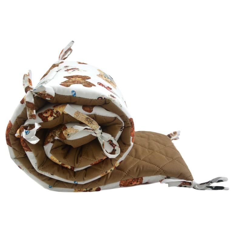 Ochraniacz do łóżeczka 60x120cm - Velvet Caramel Teddy