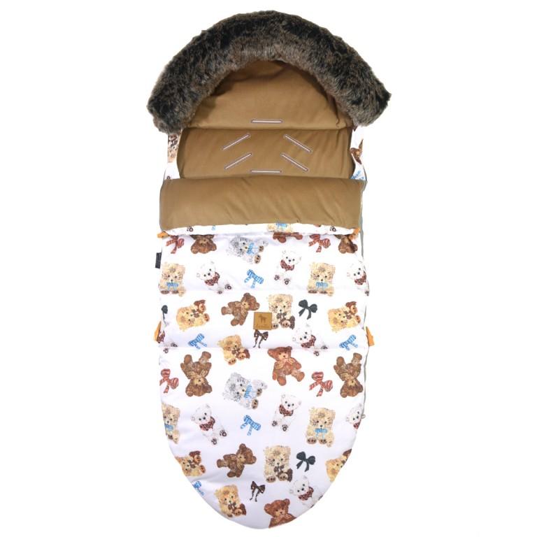 Śpiworek Zimowy z futrem Caramel Teddy L/XL (1-3 lat)