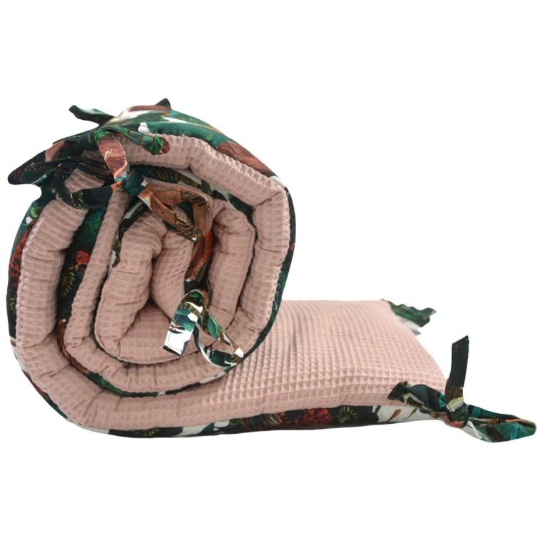 Ochraniacz do łóżeczka 60x120cm - Wafel Grapefruit Rose Royal Magic
