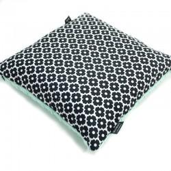Poduszka Minky - Bawełna Mint Blossom 40 x 40cm z zamkiem