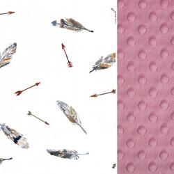 Poduszka Minky - Bawełna Dusty Rose Pure 40 x 40cm z zamkiem