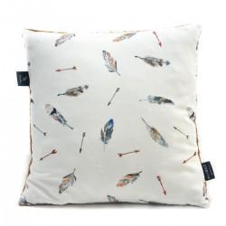 Poduszka Minky - Bawełna Mocha Pure 40 x 40cm z zamkiem