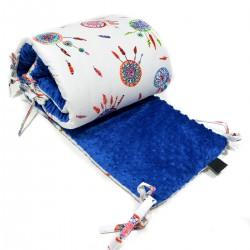 Ochraniacz do łóżeczka 60x120cm - Royal Blue Dreamcatchers