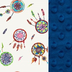 Kocyk Light Royal Blue Dreamcatchers 75 x 100cm