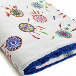 Kocyk starszaka Royal Blue Dreamcatchers 100 x 130cm