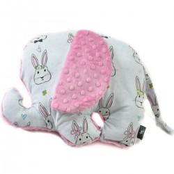 Poduszka - przytulanka Lucky Guy Dusty Rose Face the Bunny