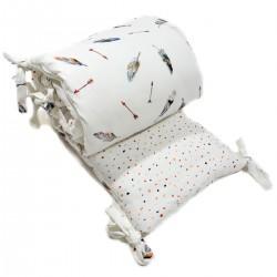 Ochraniacz do łóżeczka 60x120cm - Pure Dots