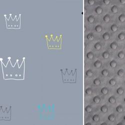 Kocyk niemowlaka Grey Crown 75 x 100cm