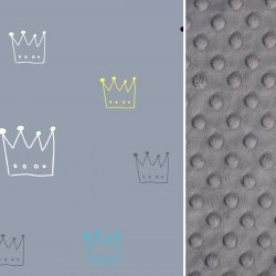 Kocyk Przedszkolaka Grey Crown 100 x 130cm