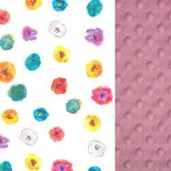 Kocyk Przedszkolaka Dusty Rose Flowerland 100 x 130cm