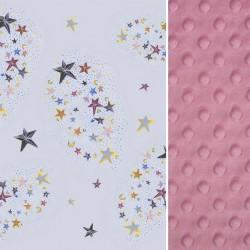 Kocyk Średniaka Dusty Rose Milky Way 75 x 100cm