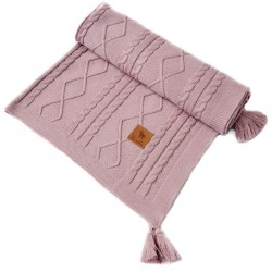 Knitted Blanket 75x100cm Rose Fancy