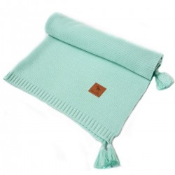 Knitted Blanket 75x100cm Mint Simple