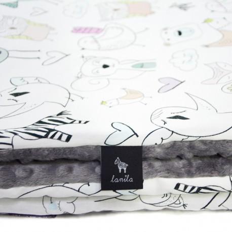 Kocyk Przedszkolaka Grey Tender Friends 100 x 130cm