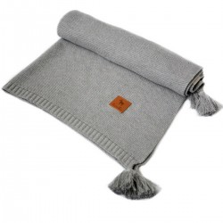 Knitted blanket 100x130cm Grey Simple
