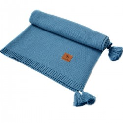 Knitted blanket 100x130cm Navy Simple