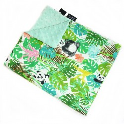 Kocyk Light Mint Jungle Bears 60x70cm