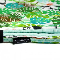 Kocyk Light Mint Jungle Bears 100 x 130cm