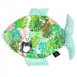 Poduszka Fisherka Mint Jungle Bears