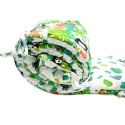 Ochraniacz do łóżeczka 60x120cm - Jungle Bears/Green Flakes