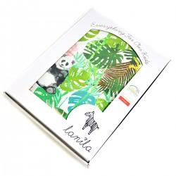 Pościel bawełniana Jungle Bears/Green Flakes 100 x 135cm