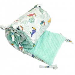 Ochraniacz do łóżeczka 70x140cm - Mint Tukan