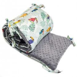 Ochraniacz do łóżeczka 70x140cm - Grey Tukan