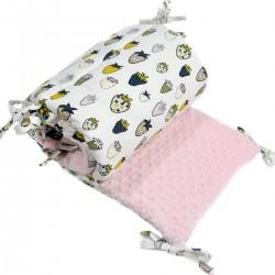 Ochraniacz do łóżeczka 70x140cm - Pink Sweet and Sour