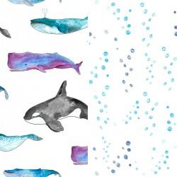 Pościel bawełniana Ocean/Bubbles 90 x 120cm