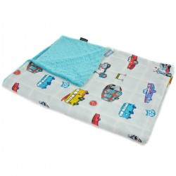 Kocyk Light Pacific Blue Newborn to Drive 100 x 130cm