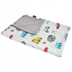 Kocyk Light Grey Newborn to Drive 100 x 130cm